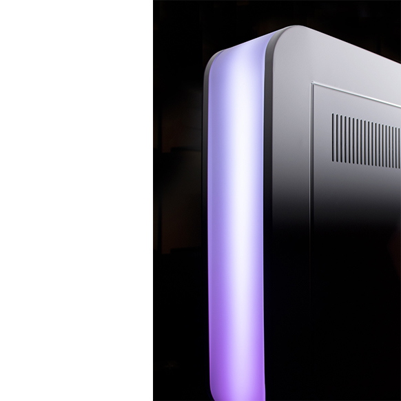 focus sur bandeau LED violet Photobooth achat