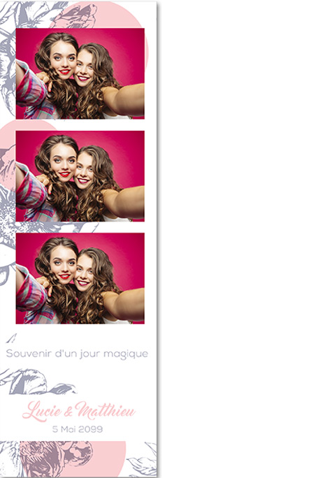 template photo bandelette mariage 15 x 5 cm